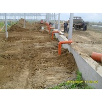 Installation of the internal drainage system, production and household sewerage with the output from the greenhouse up to 3 m